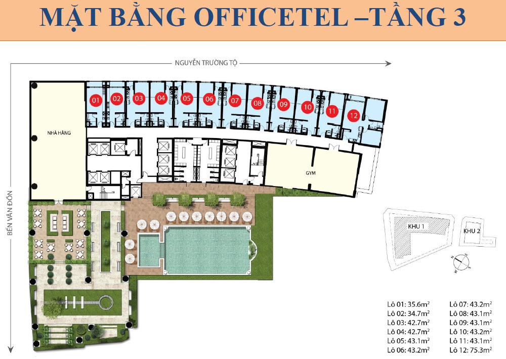 Saigon Royal offecetel floor plan