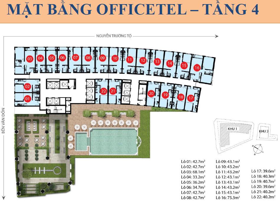 Saigon Royal officetel floor plan